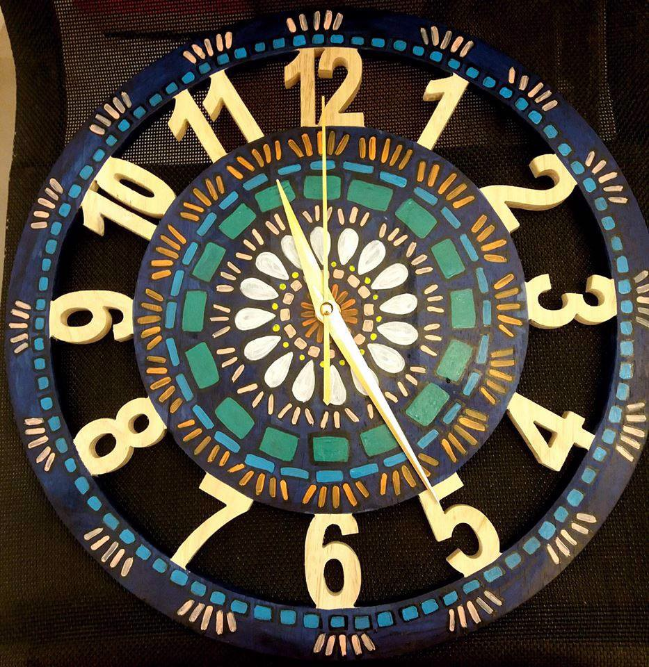 Mosaic midium wall clock3