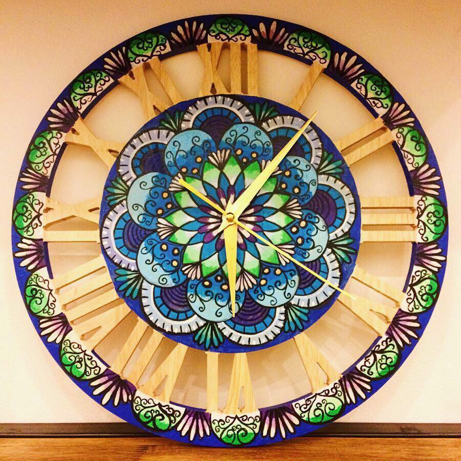 Mosaic wall clock4