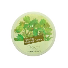 Kem massage TheFaceShop HERB DAY Massage Cream-Mugwort