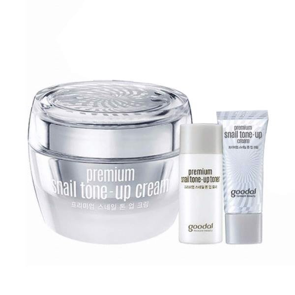 SET KEM DƯỠNG GOODAL PREMIUM SNAIL TONE-UP CREAM