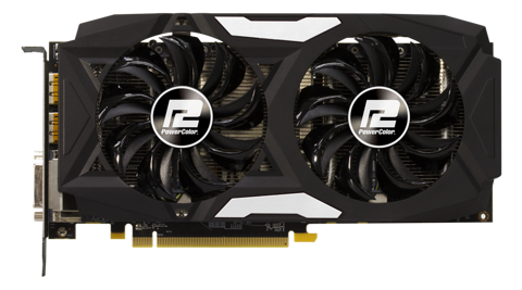 CARD MÀN HÌNH POWER COLOR RX 470 4GB 2 FAN CŨ