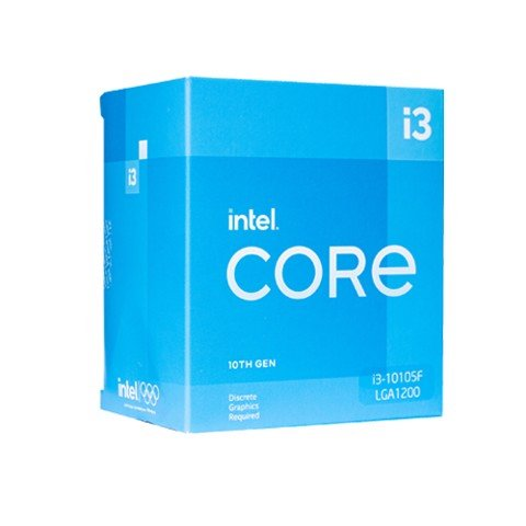 CPU Intel Core i3 10105F (3.70 Up to 4.30GHz, 6M, 4 Cores 8 Threads) Box Chính Hãng