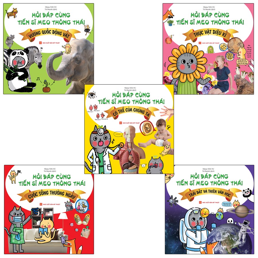 Combo Sách: Hỏi Đáp Cùng Tiến Sĩ Meo Thông Thái ( 5 Cuốn )