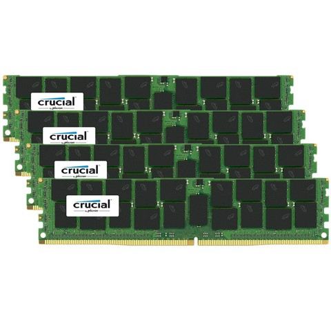 Crucial 256Gb Kit (4 X 64Gb) Ddr4-2400 Lrdimm