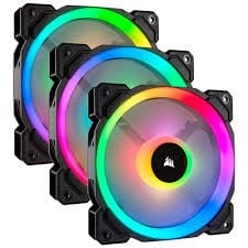 Corsair Ll120 Rgb 120Mm Dual Light Loop Rgb Led 3 Fan Pack With Lighting Node Pro