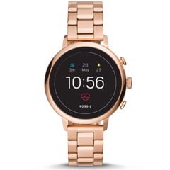 FOSSIL Q VENTURE HR ROSE GOLD TONE STAINLESS STEEL
