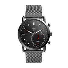 FOSSIL HYBRID SMARTWATCH Q COMMUTER SMOKE STAINLESS STEEL
