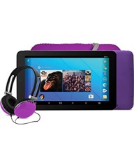 EMATIC 7-INCH HD QUAD-CORE TABLET WITH ANDROIR 5.0, LOLLIPOP - PURPLE (EGQ367BDPR)
