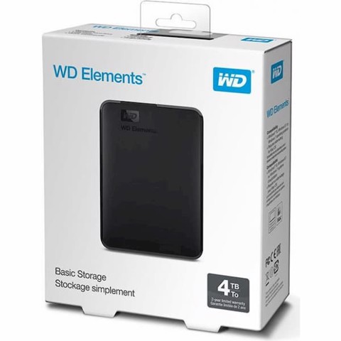 Hdd Wd Elements Portable 4Tb Wdbu6Y0040Bbk