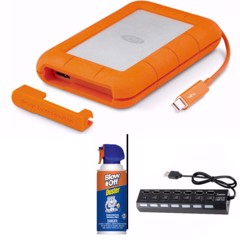 LACIE RUGGED USB-C 1TB HDD STFR1000800