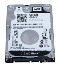 Ổ CỨNG HDD LAPTOP 500GB 7200RPM WD BLACK - 2,5