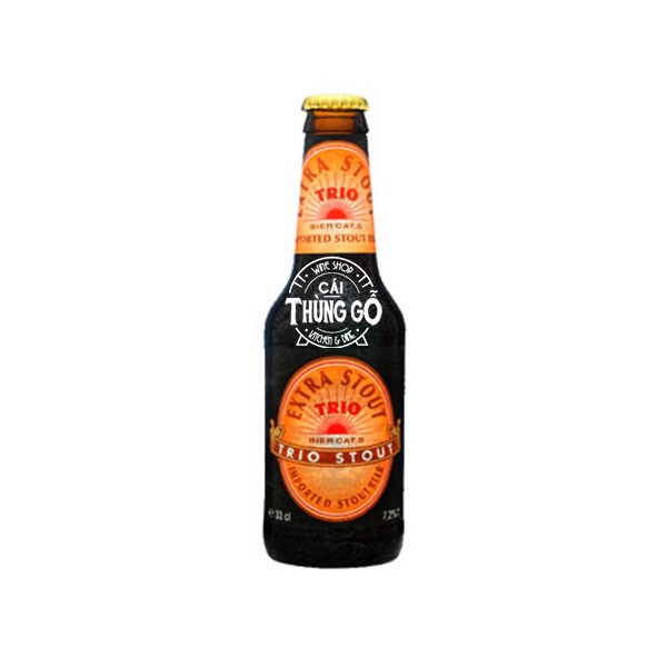 Bia Trio Extra Stout Bottle chai 330ml