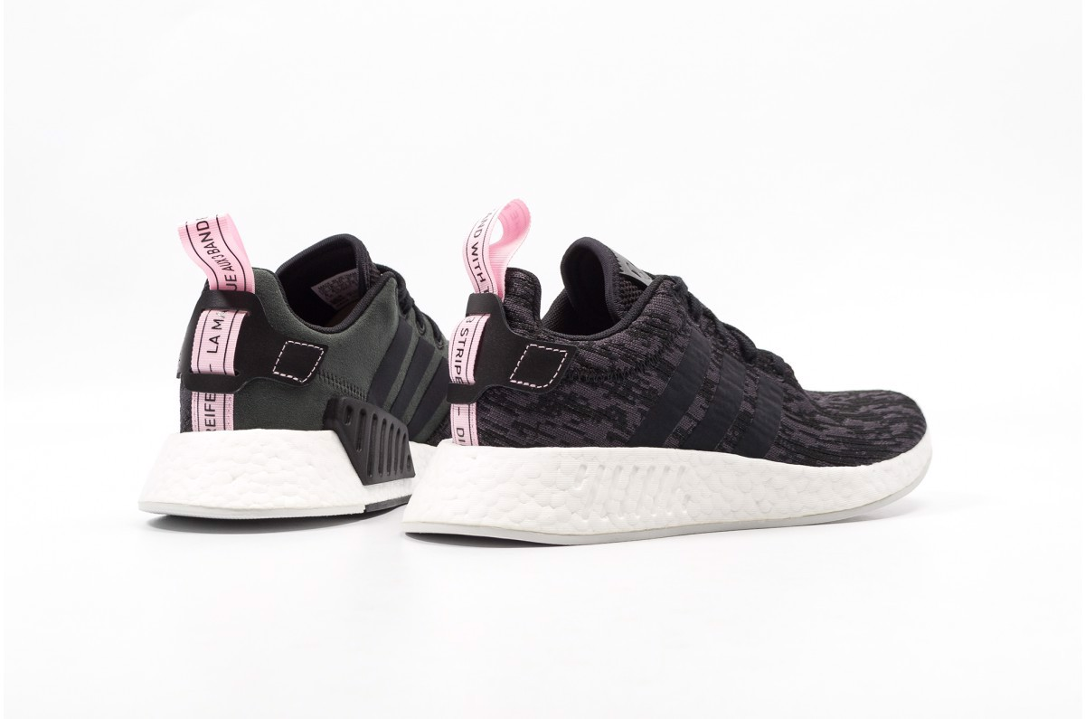 100% authentic bea3f 1cc02 [BY9314] W ADIDAS NMD R2 BLACK PINK