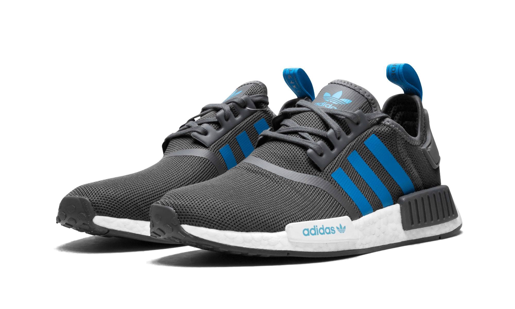 detailed look f8da8 aa807 [D96688] K ADIDAS NMD R1 GREY FIVE BRIGHT BLUE