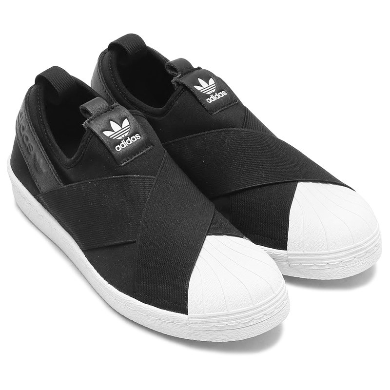 ADIDAS SUPERSTAR SLIP ON BLACK WHITE – Tramtabo
