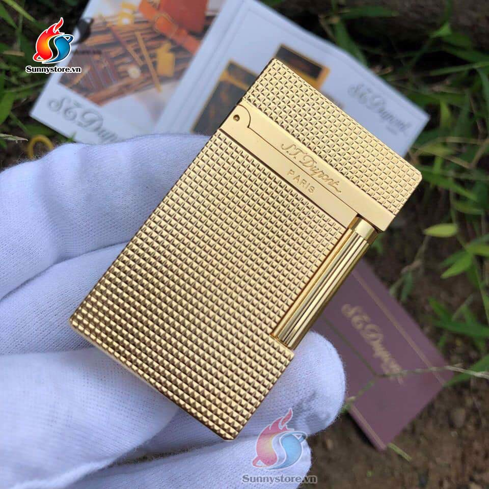 Bật lửa S.T Dupont D34 - DIAMOND HEAD YELLOW GOLD