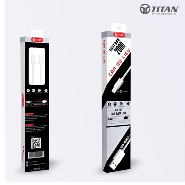 Cáp 2M IPhone Titan CA27