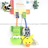 Thú chuông treo nôi Infantino Tag Along Chimes On the go Pals Sway, Shake, chime - Duck and Frog