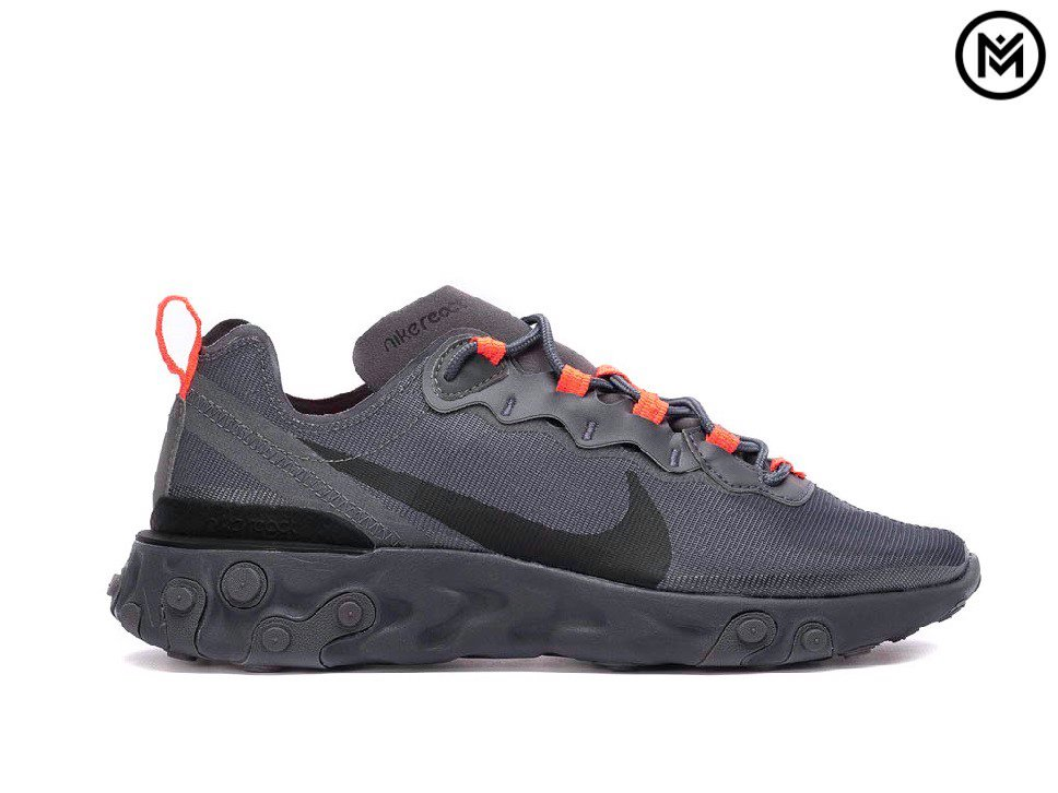 Giày Nike React Element 55 ''Metallic Dark Grey''