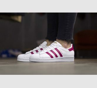 Giày Adidas Superstar White Pink