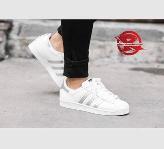 Giày Adidas Superstar White / Silver