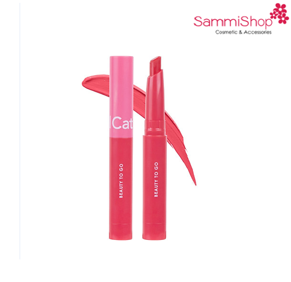 Son kem má hồng mini Cathy Doll Beauty To Go Lip & Cheek Creamy Matte 0.6g