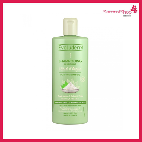 Evoluderm Purifying Shampoo White Clay & Nettle Extract 400ml ( Nhập Khẩu )