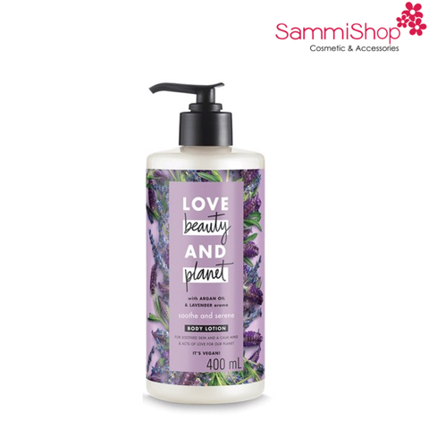 Sữa dưỡng thể dưỡng ẩm Love Beauty And Planet Soothe & Serene (400ml)(IP01)