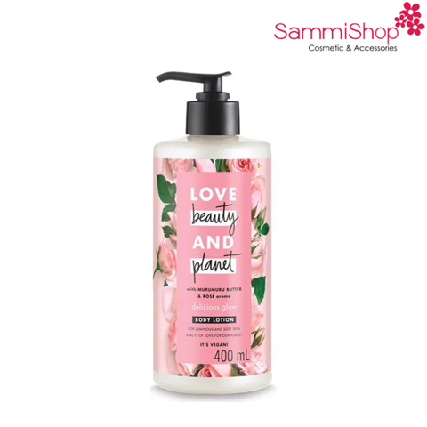 Sữa dưỡng thể sáng da Love Beauty And Planet Delicious Glow (400ml) (IP01)