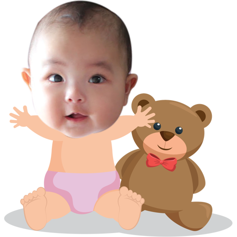 Chibi Baby and Bear - mẫu 1