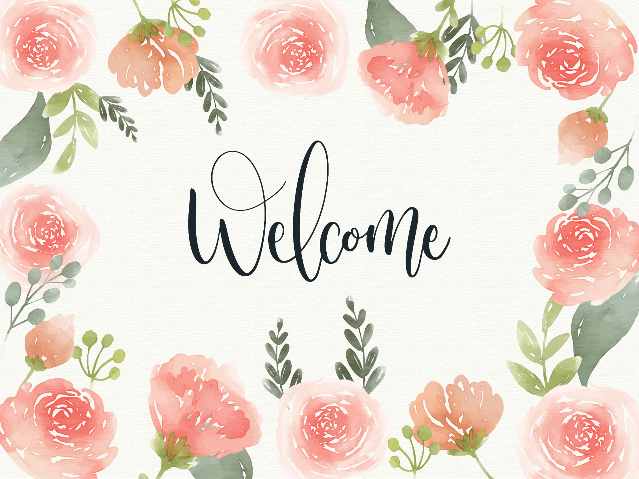 Bảng Welcome - Flower