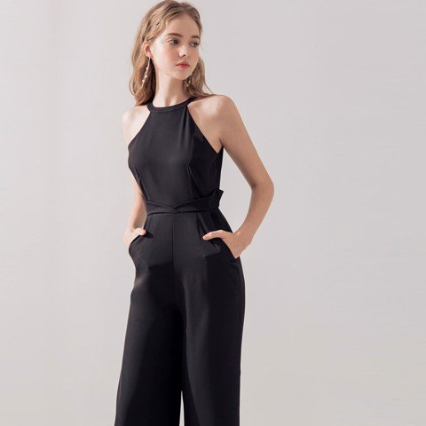 Jumpsuit cổ yếm body thanh lịch