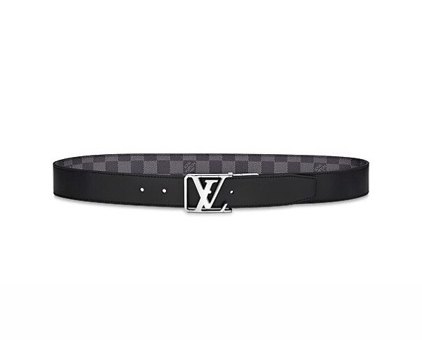Belt Louis Vuitton City Reversible Damier đen ghi