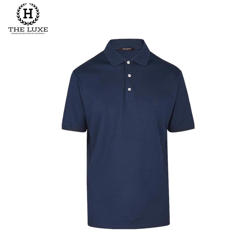 Polo LV Navy Tag Ngực