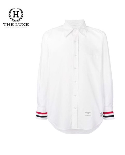Sơ mi Thom Browne Oxford check tay new season 2019