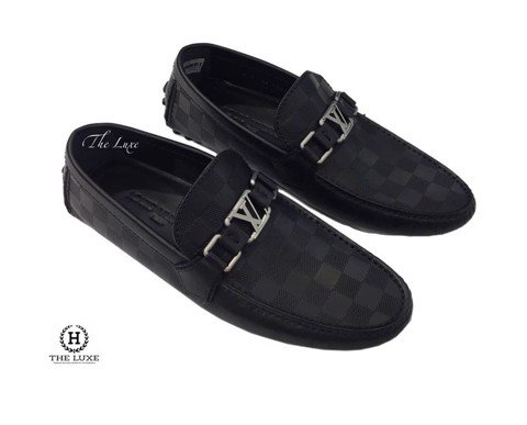 Louis Vuitton Hockenheim Black Damier Moccasins