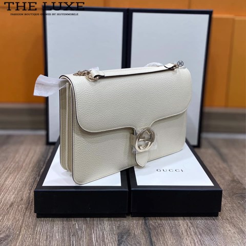 Túi Nữ Gucci Dollar Calfskin Interlocking GG Shoulder Bag