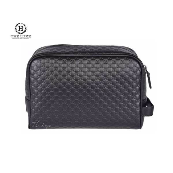 Clutch Gucci Toipetry vân monogram đen
