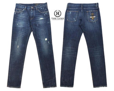 Jeans Dolce & Gabbana Bee Embroidery Classic