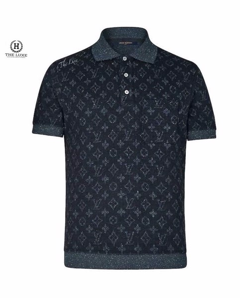 Polo Louis Vuitton Cashmere Mono Ghi