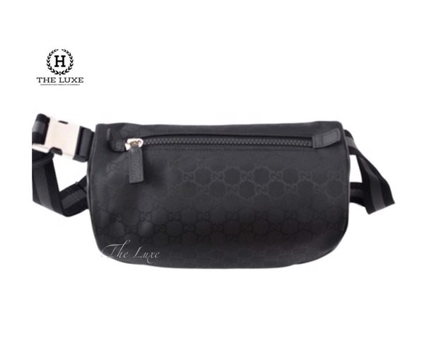 BUM BAG GUCCI GG SUPREME BLACK CANVAS