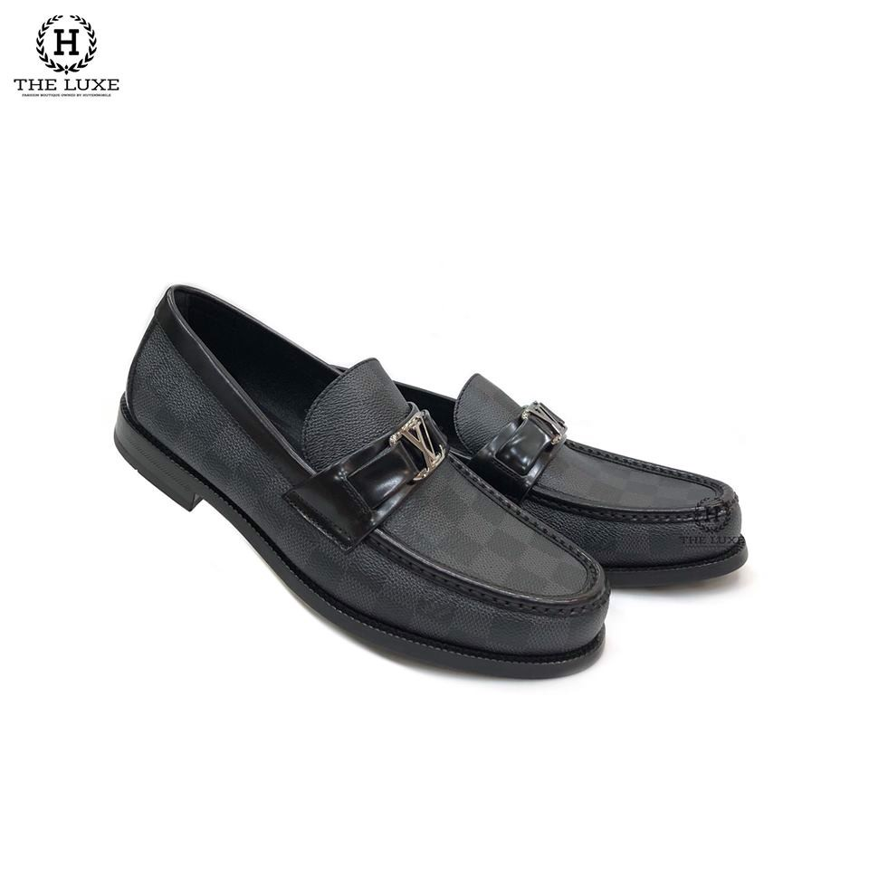 Loafer LV Major Hockenhiem Damier Đen Ghi