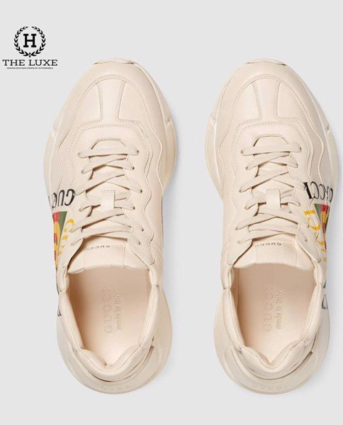 Sneaker Rhyton Gucci Logo Leather