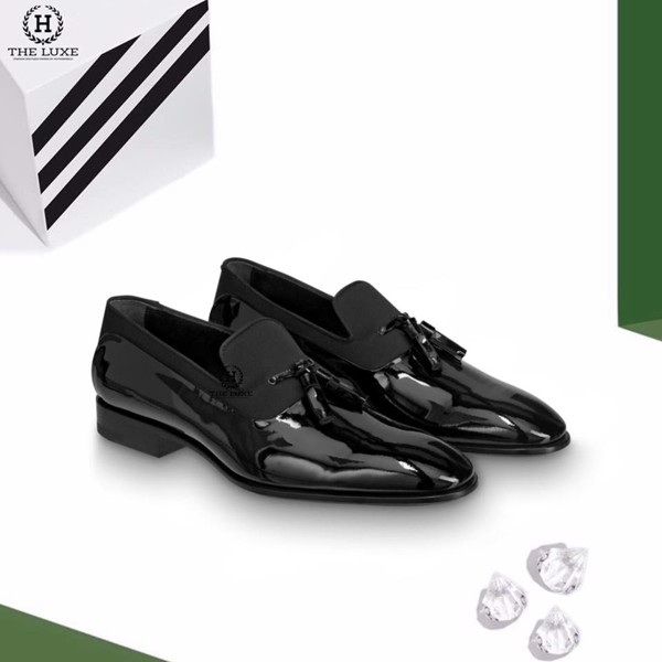 Loafer LV Tasseled Patent Đen
