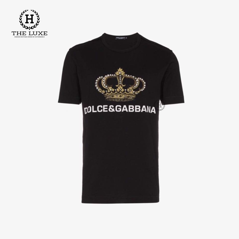 T shirt Dolce Crown Print