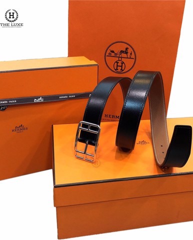 Belt Hermes cape cod đen gold.