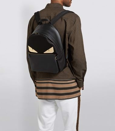Balo Fendi Bag Bugs Leather Backpack
