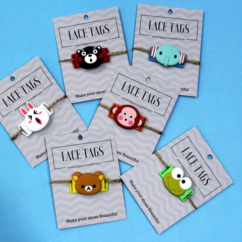 Lace Tags giày Animals