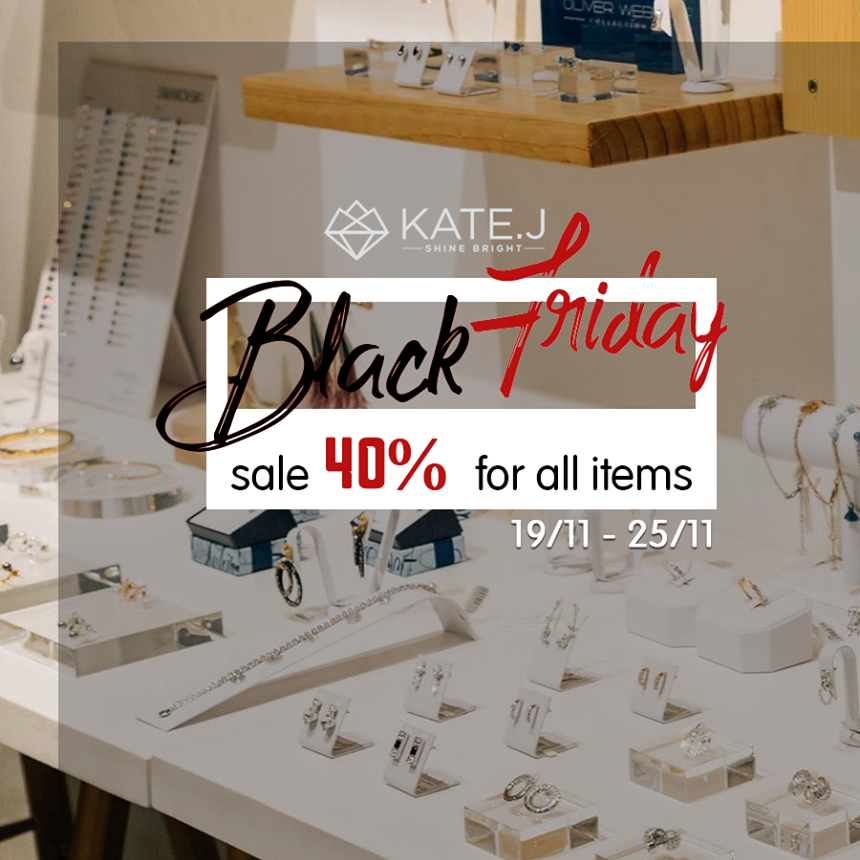 SALE OFF 40% CÙNG KATE.J SĂN BLACK FRIDAY