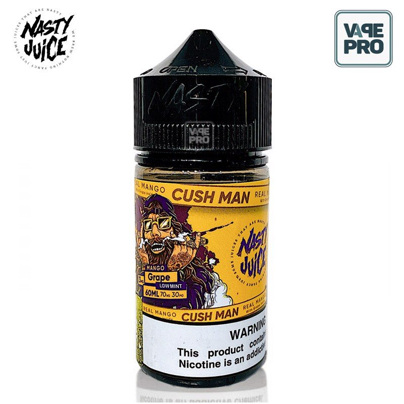 MANGO GRAPE CUSH MAN (Xoài Nho lạnh) - NASTY JUICE E-LIQUID - 60ML